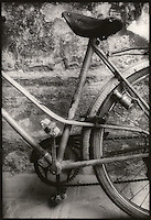 Close-up of old bicycle<br />