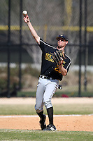 March 15, 2010:  Third Baseman Curtis Schickner of UMBC vs. Long Island University at Lake Myrtle Park in Auburndale, FL.  Photo By Mike Janes/Four Seam Images