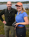 THE ISLES OF SCILLY SEABIRD RECOVERY PROJECT. PETER EXLEY AND JACLYN PEARSON, RSPB.  17/06/2015. PHOTOGRAPHER CLARE KENDALL.