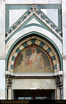 Patriarchal Figure at Feast of Corpus Domini Right Portal Fresco 1616 Santa Maria Novella Florence