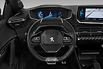 Car pictures of steering wheel view of a 2020 Peugeot e-208 GT 5 Door Hatchback Steering Wheel