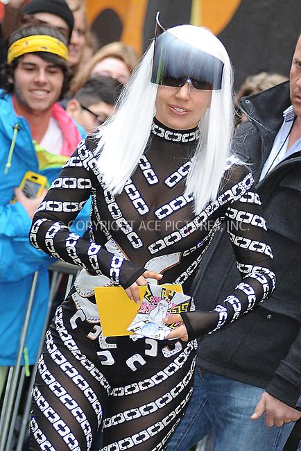 WWW.ACEPIXS.COM <br /> March 28, 2014 New York City<br /> <br /> Lady Gaga leaving to the Roseland Ballroom in Manhattan on March 28, 2014 in New York City.<br /> <br /> Please byline: Kristin Callahan  <br /> <br /> ACEPIXS.COM<br /> Ace Pictures, Inc<br /> tel: (212) 243 8787 or (646) 769 0430<br /> e-mail: info@acepixs.com<br /> web: http://www.acepixs.com