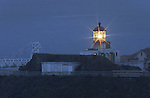 Point Bonita Lighthouse is a lighthouse located at Point Bonita at the San Francisco Bay entrance in the Marin Headlands near Sausalito, California. Point Bonita was the last manned lighthouse on the California coast.