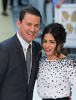 Channing Tatum with Jenna Dewan as they attend The Magic Mike XXL European Film Premiere at Vue, Leicester Square, London, England on 28 June 2015. Photo by Andy Rowland.