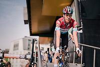 (eventual race winner) Bob Jungels (LUX/Quick Step Floors) at the pre-race sign-on<br /> <br /> 104th Liège - Bastogne - Liège 2018 (1.UWT)<br /> 1 Day Race: Liège - Ans (258km)