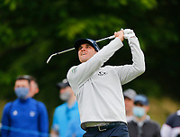 2nd July 2021; Mount Juliet Golf Club, Kilkenny, Ireland; Dubai Duty Free Irish Open Golf, Day Two; John Catlin of the USA tees off on the 14th hole