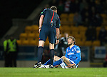 St Johnstone v Aberdeen…22.04.16  McDiarmid Park, Perth<br />An injured Murray Davidson<br />Picture by Graeme Hart.<br />Copyright Perthshire Picture Agency<br />Tel: 01738 623350  Mobile: 07990 594431