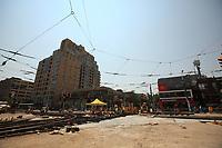 Toronto (ON) CANADA - July 2012 - Queen street west -street repair