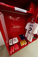ZAPOPAN, MEXICO - MARCH 21: Julian Araujo's jersey #2 of the United States before a game between Dominican Republic and USMNT U-23 at Estadio Akron on March 21, 2021 in Zapopan, Mexico.