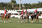 WELLINGTON, FL - FEBRUARY 19: Team Coca Cola returns to their tent after Coca Cola 9 defeats Tonkawa 8 in overtime with a Golden Goal on a Penalty 2 by Julio Arellano, in the William Ylvisaker Cup Final, at the International Polo Club, Palm Beach on February 19, 2017 in Wellington, Florida. (Photo by Liz Lamont/Eclipse Sportswire/Getty Images)