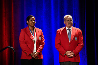 Orlando, FL - Saturday February 10, 2018: Briana Scurry, National Soccer Hall of Fame Induction, Hank Steinbrecher during U.S. Soccer's Annual General Meeting (AGM) at the Renaissance Orlando at SeaWorld.