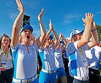 6th September 2021: Toledo, Ohio, USA;  Madelene Sagstrom of Team Europe celebrates winning the Solheim Cup on September 6, 2021 at Inverness Club in Toledo, Ohio.