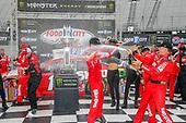 #18: Kyle Busch, Joe Gibbs Racing, Toyota Camry Skittles victory lane champagne