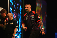 25th May 2021; Marshall Arena, Milton Keynes, Buckinghamshire, England; Professional Darts Corporation, Unibet Premier League Night 14 Milton Keynes; Nathan Aspinall reacts as he fails to check out and win the match against James Wade