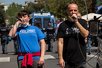 Assalti Frontali (Music Band).<br /> <br /> Rome, Italy. 25th Apr, 2021. Today, to mark the 76th Anniversary of the Italian Liberation from nazi-fascism (Liberazione), Azione Antifascista Roma Est, supported by ANPI Centocelle (National Association of Italian WWII Partizans), and various Antifascist organizations, movements, students, political parties, social centres, held a march (Corteo) from Piazza delle Camelie to Villa Gordiani's Park (1.), in Centocelle's district. The demonstration began with a rally in front of the Memorial dedicated to the Partizans of Centocelle victims of nazi-fascist occupation troops and retaliations, where Partizans and their relatives, activists, historians gave speeches to remember the population struggle and solidarity, to keep the memory and the lesson of the Resistenza alive and to reaffirm the values of Freedom and Justice of the Italian Antifascist Constitution as the only way to fight against fascist pulsions re-appearing all over the world.  <br /> On the 4th June 2018 the Centocelle's District was awarded of the State Gold Medal (for Civil Merit) for its Antifascist Resistance (2.).<br /> <br /> Footnotes & Links: <br /> 1. http://bit.do/fQB69 <br /> 2. http://bit.do/fQB7m <br /> Previous 25 Aprile's Events:<br /> - 25 Aprile 2020: http://bit.do/fQB77 <br /> - I Partigiani http://tiny.cc/cwi3nz<br /> - 25 Aprile 2019 (at Ferramonti di Tarsia concentration camp) http://bit.do/fQB8i <br /> - 25 Aprile 2018 http://tiny.cc/dsi3nz<br /> http://www.anpi.it <br /> (Source, Wikipedia.org ENG) The Liberazione: https://en.wikipedia.org/wiki/Liberation_Day_(Italy)
