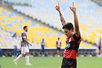 Rio de Janeiro (RJ), 12/07/2020 -Fluminense-Flamengo - Pedro jogador do Flamengo comemora seu gol,durante partida contra o Fluminense,válida pela final do Campeonato Carioca,realizada no Estádio Jornalista Mário Filho (Maracanã), na zona norte do Rio de Janeiro,neste domingo (12).