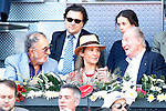 Tennis legend Ion Tiriac, Infanta Elena of Spain her daughter Victoria Federica de Todos los Santos de Marichalar y Borbon and King Juan Carlos I of Spain during Madrid Open Tennis 2016 match.May, 3, 2016.(ALTERPHOTOS/Acero)
