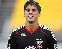 Rodrigo Brasesco#3 of D.C. United during a second round match of the Carolina Challenge against the Chicago Fire on March 9 2011 at Blackbaud Stadium, in Charleston, South Carolina. D.C. United won 1-0.
