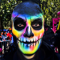 A young man, representing a Mexican cultural icon called La Catrina, takes a part in celebrations of the Day of the Dead (Día de Muertos) in Mexico City, Mexico, 29 October 2016.