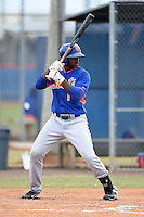 New York Mets outfielder Ivan Wilson (1) during a minor league spring training game against the St. Louis Cardinals on March 27, 2014 at the Port St. Lucie Training Complex in Port St. Lucie, Florida.  (Mike Janes/Four Seam Images)