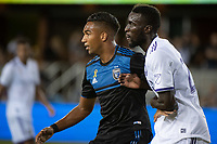 SAN JOSE,  - SEPTEMBER 1: Danny Hoesen #9 of the San Jose Earthquakes during a game between Orlando City SC and San Jose Earthquakes at Avaya Stadium on September 1, 2019 in San Jose, .