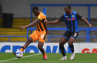 Hull City's Josh Emmanuel battles with Rochdale's Tolaji Bola<br /> <br /> Photographer Dave Howarth/CameraSport<br /> <br /> The EFL Sky Bet League One - Rochdale v Hull City - Saturday 17th October 2020 - Spotland Stadium - Rochdale<br /> <br /> World Copyright © 2020 CameraSport. All rights reserved. 43 Linden Ave. Countesthorpe. Leicester. England. LE8 5PG - Tel: +44 (0) 116 277 4147 - admin@camerasport.com - www.camerasport.com