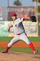 May 6 2010: Jesus Sanchez (27) of the Clearwater Threshers during a game vs. the Daytona Cubs at Jackie Robinson Ballpark in Daytona Beach, Florida. Clearwater, the Florida State League High-A affiliate of the Philadelphia Phillies, won the game against Daytona, affiliate of the Chicago Cubs, by the score of 8-3.  Photo By Scott Jontes/Four Seam Images