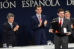 MADRID (24/05/2010).- Prince Felipe of Borbon visited Las Rozas Soccer City where he inagurated the RFEF Museum and met the Spains National Team players selected  for South Africa World Cup. Prince Felipe de Borbon today handed the gold medal of the Royal Spanish Football Federation (RFEF) to Iker Casillas...Photo: Cesar Cebolla / ALFAQUI