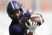 Fayetteville wide receiver Dylan Kittell makes a catch, Thursday, July 15, 2021 during the Southwest Elite 7on7 tournament at Shiloh Christian in Springdale. Check out nwaonline.com/210716Daily/ for today's photo gallery. <br /> (NWA Democrat-Gazette/Charlie Kaijo)