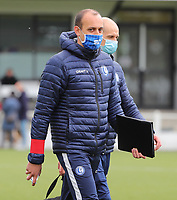 goalkeepercoach Farid Goreishvand of AA Gent pictured before a female soccer game between Oud Heverlee Leuven and AA Gent Ladies on the 9 th matchday of play off 1 in the 2020 - 2021 season of Belgian Womens Super League , saturday 22 nd of May 2021  in Heverlee , Belgium . PHOTO SPORTPIX.BE | SPP | SEVIL OKTEM