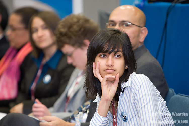 Deepa Gupta, (India) during a Intergenerational Inquiry on Climate Solutions. Poznan..UNFCCC COP 14 (©Robert vanWaarden ALL RIGHTS RESERVED)
