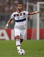 Calcio, Champions League, Gruppo E: Roma vs Bayern Monaco. Roma, stadio Olimpico, 21 ottobre 2014.<br /> Bayern's Mehdi Benatia in action during the Group E Champions League football match between AS Roma and Bayern at Rome's Olympic stadium, 21 October 2014.<br /> UPDATE IMAGES PRESS/Isabella Bonotto
