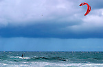 Kite boarding is a combination of wind surfing and wakeboarding. First seen in Hawaii the sport soon migrated to the mainland pacific coast.