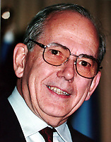Montreal, 1999-06-02. The International Monetary Fund's general director ;  Michel Camdessus was the closing speaker at the Fifth `` Conference de Montreal `` on economy globalization.<br /> Photo : (c) Pierre Roussel, 1999