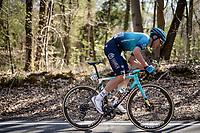 Omar Fraile (ESP/Astana - Premier Tech) up the Côte de la Roche-aux-Faucons<br /> <br /> 107th Liège-Bastogne-Liège 2021 (1.UWT)<br /> 1 day race from Liège to Liège (259km)<br /> <br /> ©kramon