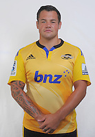 Brendon Edmonds. Hurricanes Super Rugby official headshots at Rugby League Park, Wellington, New Zealand on Friday, 24 January 2014. Photo: Dave Lintott / lintottphoto.co.nz