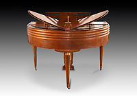 BNPS.co.uk (01202) 558833<br /> Pic: Dreweatts/BNPS<br /> <br /> Pictured: A Wurlitzer Butterfly grand piano, one of 75 produced between 1937 and 1939 has an estimate £15,000<br /> <br /> A remarkable collection of rare pianos belonging to the Queen's personal restorer and conservator has emerged for sale for £250,000.<br /> <br /> David Winston is parting with 26 pianos he has amassed over the past 30 years dating from the 18th century to the present day.<br /> <br /> Mr Winston, who was awarded the Royal Warrant in 2012, is regarded as one of the foremost experts in his field and has restored pianos owned and played by Beethoven, Chopin and Liszt.<br /> <br /> His collection includes a 1925 Pleyel grand piano fitted with an original 'Auto Pleyela' self-playing mechanism in a spectacular Chinoiserie Louis XV case valued at 60,000.