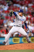 June 18, 2008:  Los Angeles Dodgers relief pitcher Hong-Chih Kuo (56) at The Great American Ballpark in Cincinnati, OH.  Photo by:  Chris Proctor/Four Seam Images