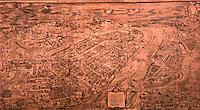 Frankfurt: Ansicht von Frankfurt mit Belagerung 1552 von K. Faber Holzschnitt 1554. Reference only.