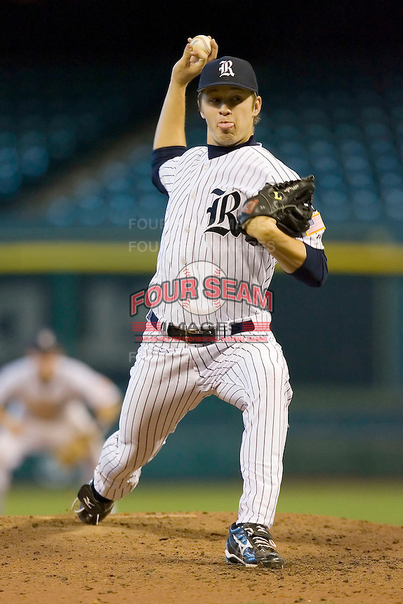 Relief pitcher Andrew Benak #30 of the Rice Owls in action versus the Baylor Bears in the 2009 Houston College Classic at Minute Maid Park March 1, 2009 in Houston, TX.  The Owls defeated the Bears 8-3. (Photo by Brian Westerholt / Four Seam Images)