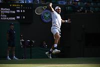 2021 Wimbledon Championship Matteo Berrettini , Italy *** 2021 Wimbledon Championship Matteo Berrettini , Italy <br /> Wimbledon Tennis <br /> Photo Imago/Insidefoto <br /> ITALY ONLY