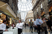 Veduta della Galleria Vittorio Emanuele a Milano.<br /> View of the Galleria Vittorio Emanuele in Milan.<br /> UPDATE IMAGES PRESS/Riccardo De Luca