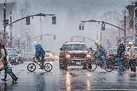 Snow in Uptown Westerville.