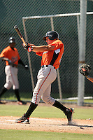 September 29, 2009: Catcher Michael Ohlman of the Baltimore Orioles organization during an instructional league game at Charlotte County Sports Complex in Port Charlotte, FL.  Photo By David Stoner/Four Seam Images