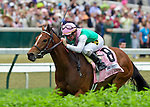Aviate, trained by Bill Mott, wins the 26th running of the Churchill Distaff Turf Mile under jockey Kent Desormeaux at Churchill Downs in Louisville, Kentucky on May 7, 2011.