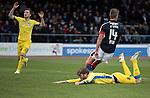 Dundee v St Johnstone….31.12.16     Dens Park    SPFL<br />Murray Davidson misses a header<br />Picture by Graeme Hart.<br />Copyright Perthshire Picture Agency<br />Tel: 01738 623350  Mobile: 07990 594431