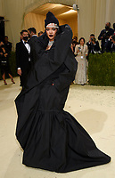 """Rihanna attends The Metropolitan Museum of Art's Costume Institute benefit gala celebrating the opening of the """"In America: A Lexicon of Fashion"""" exhibition on Monday, Sept. 13, 2021, in New York. (Photo by Evan Agostini/Invision/AP)"""