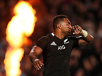 Sevu Reece scores a disallowed try during the Bledisloe Cup rugby match between the New Zealand All Blacks and Australia Wallabies at Eden Park in Auckland, New Zealand on Saturday, 17 August 2019. Photo: Simon Watts / lintottphoto.co.nz