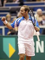 23-2-06, Netherlands, tennis, Rotterdam, ABNAMROWTT, Olivier Rochus defeats David Ferrer