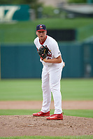 Springfield Cardinals relief pitcher Landon Beck (41) looks in for the sign during a game against the San Antonio Missions on June 4, 2017 at Hammons Field in Springfield, Missouri.  San Antonio defeated Springfield 6-1.  (Mike Janes/Four Seam Images)